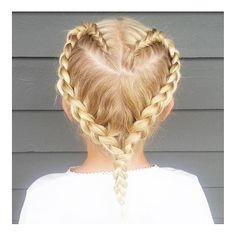 """_home_details_ på Instagram: """"Min flinke niese Embla har laget hjerteflette på Lillefrøkenen min. Embla er nyutdannet frisør og vant gull i NM for frisørlærlinger i vår. Med en sterk 6-er på avgangseksamen, så er jeg veldig stolt tante ☺️ Følg henne på @hair_by_embla #dagensanbefaling"""""""