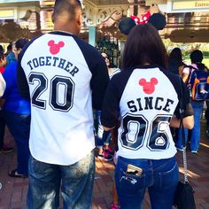 Couples matching shirts #disney