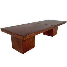 Extendable Walnut Coffee Table by John Keal Design   From a unique collection of antique and modern coffee and cocktail tables at https://www.1stdibs.com/furniture/tables/coffee-tables-cocktail-tables/