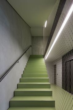 Image 3 of 15 from gallery of Apartments Charlotte / Michels Architekturbüro. Photograph by Werner Huthmacher Staircase Handrail, Interior Staircase, Stair Railing, Staircase Design, Stair Design, Metal Stairs, Modern Stairs, Architecture Details, Interior Architecture