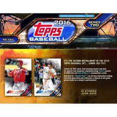 2016 Topps Series 2 Baseball Factory Sealed 24 Pack Box - $49.99