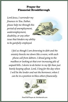I claim financial breakthrough, in the name of Jesus. I plead the Blood of Jesus over my finances. Prayer Scriptures, Bible Prayers, Faith Prayer, God Prayer, Prayer Quotes, Power Of Prayer, Novena Prayers, Prayer Room, Catholic Prayers