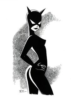bruce timm- cat woman