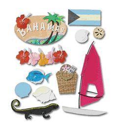 Jolee's Boutique Destination Stickers - Bahamas