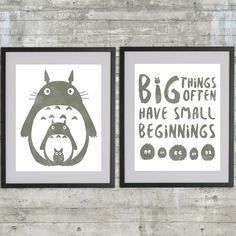 Totoro Art Printable My Neighbor Totoro by PrintsAndPrintables