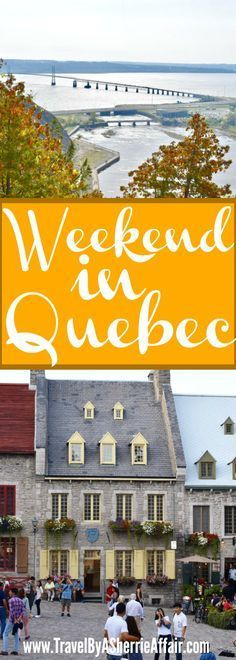 A quick weekend in Quebec, Canada to see some of the sights.  Montmorency Falls, Basilica of Sainte-Anne-de-Beaupré and Old Quebec City for some shopping.  #Quebec #Canada #Montmorencyfalls #travel