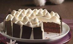 Schneeball-Torte - Eine schokoladige Torte mit einer Vanille-Creme zum Weihnachtsfest