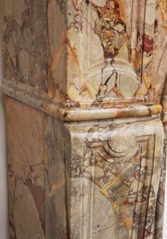 Marble fireplace mantel detail of a leg ( 18th century period)