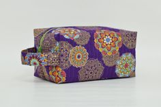 Gold & Colorful Flowers on Purple Quilted by DoreensBabyBoutique