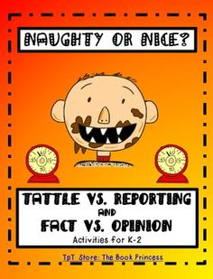 Let David Shannon's lovable David help teach your kiddos the difference between Tattling and Reporting and Fact and Opinion. What's included? Elementary School Counseling, School Social Work, School Counselor, Elementary Schools, Classroom Organization, Classroom Management, Behavior Management, Tattling Vs Reporting, Help Teaching