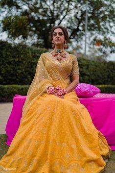 Yellow Lehenga, Red Lehenga, Bridal Lehenga, Anarkali, Lengha Choli, Saree, Mehendi Outfits, Indian Bridal Outfits, Indian Bridal Fashion