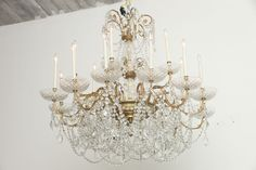 Pair of 18-Light Grand Chandeliers from Ritz Carlton Palm Beach   From a unique collection of antique and modern chandeliers and pendants  at https://www.1stdibs.com/furniture/lighting/chandeliers-pendant-lights/
