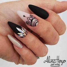 1016 Likes 8 Comments Ugly Duckling Nails Inc. (Ugly Duckling Nails Inc. Stiletto Nail Art, Cute Acrylic Nails, Acrylic Nail Designs, Nail Art Designs, Nails Design, Coffin Nails, Design Art, Design Ideas, Gorgeous Nails