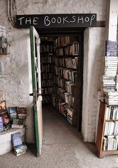 one of my favourite places - the secondhand bookshop in Lyme Regis, Dorset, England