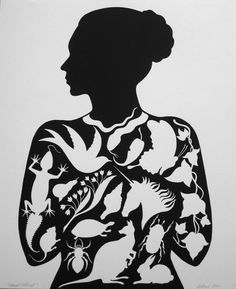 Deborah Klein - Corporeal/Ethereal, 2012, linocut, 60 x 50 cm, ed. 23