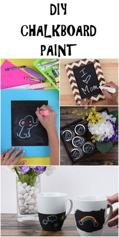 Easy Chalkboard Paint DIY ! You can use it on mugs, folders, picture frames, and more!  #babyfirst #diy #craft #hack #kids #parents #parenthood #dad #mom #baby #creative #arts