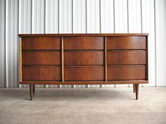 Mid Century Danish Modern Walnut Dresser Mid Century Modern Dresser, Mid Century Modern Bedroom, Danish Modern, Mid-century Modern, West Elm Mid Century, Walnut Dresser, Bedroom Dressers, Furnitures, Credenza