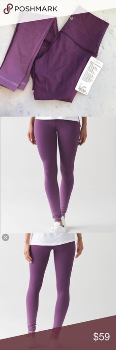 Lululemon Ombre Purple Tight Worn once, beautiful lululemon leggings in a purple ombré. Unfortunately too small for me 😩 but they are gorgeous! Like new lululemon athletica Pants Leggings
