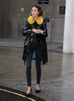 Alexa Chung seen at BBC Radio One on September 22, 2015 in London, England.