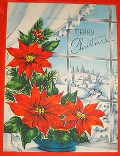 Vintage Acweltone Christmas Cards Lot of 4 Vintage Christmas Images, Old Christmas, Old Fashioned Christmas, Christmas Scenes, Vintage Holiday, Christmas Pictures, Christmas Windows, Holiday Greeting Cards, Xmas Cards