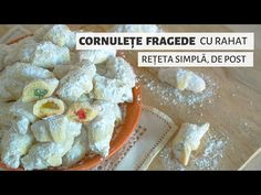 Cum să faci cele mai fragede cornulețe. Rețeta de post, ușoară și ieftină | Bucate Aromate - YouTube No Cook Desserts, Dairy, Cooking, Food, Sweets, Kitchen, Essen, Meals, Yemek