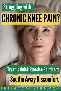 """Learn how to ease knee discomfort with the 5 minute daily """"soothing exercise ritual"""" Knee Arthritis Exercises, Knee Strengthening Exercises, Arthritis Remedies, Knee Osteoarthritis, Knee Swelling, Bursitis Hip, Knee Surgery Recovery, How To Strengthen Knees"""