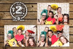 Rustic wood custom print template for Copper Blues West Palm Beach 2 year anniversary party. www.thereveriebooth.com