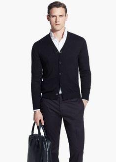 Cotton silk-blend cardigan