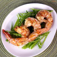 Shrimp with Grilled Lemon and Mint by Michael Symon! #TheChew