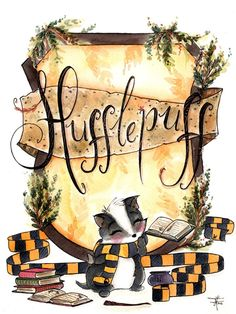 Print Hufflepuff Pride - Hogwarts Art - Fandom art print - Harry Potter Painting- Book lovers - Gifts for Booknerds by TJLubrano on Etsy Harry Potter World, Harry Potter Kunst, Cute Harry Potter, Harry Potter Drawings, Harry Potter Fan Art, Harry Potter Universal, Harry Potter Fandom, Estilo Harry Potter, Mundo Harry Potter