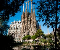 A global view of the Nativity facade of the by The most famous structure in Famous Structures, Main Attraction, Gaudi, Nativity, Facade, Places To Go, Barcelona, Building, Travel