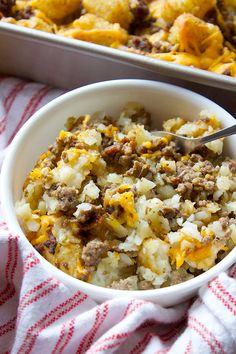 Hillbilly Hamburger Casserole |simplegreenmoms.com| #dinner #onepan #delicious