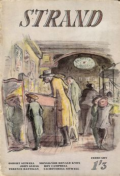 Strand magazine cover, february 1947, illustration by Edward Ardizzone