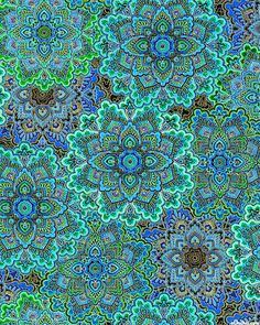 Enchanted Plume - Radiating Medallions - Quilt Fabrics from www.eQuilter.com