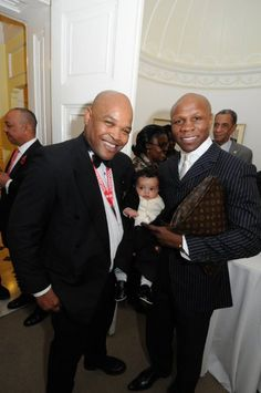 Donald Sweeting meets Chris Eubank at The Bahamas High Commission in London.