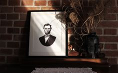 Abraham Lincoln Pen Pointillism