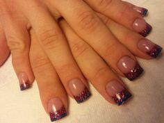 Sparkle fade nails by Cathy Heine at Curl Up and Dye Salon. Branson MO