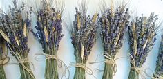 One Simple Lavender and Wheat Bouquet for a Rustic Summer  or Fall Wedding via Etsy