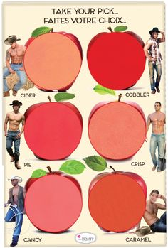 How 'Bout Them Apples? The Balm has the most creative names an packaging in the hole makeup industry