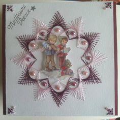 carte de voeux brodé 1 - carte postale et autre cartes - vitine13 - Fait Maison