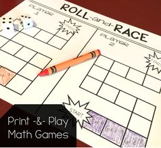 64 different print and play math games for ALL the first grade math standards! Head over to the blog post to try a free game!