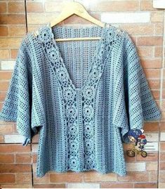 Items similar to Made to order summer women crochet blouse. Linked cotton crochet on Etsy T-shirt Au Crochet, Cardigan Au Crochet, Crochet Tunic Pattern, Pull Crochet, Mode Crochet, Crochet Shirt, Crochet Crop Top, Crochet Jacket, Cotton Crochet