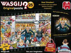 Wasgij? #25: Deal Breaker! (1000) - Pusselbutiken.se Comic Books, The Originals, Comic Book, Comics, Graphic Novels