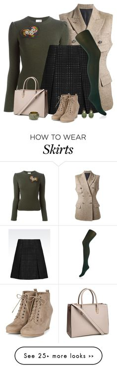 """""""Skirt for cold weather"""" by kamkami on Polyvore featuring Jean-Paul Gaultier…"""