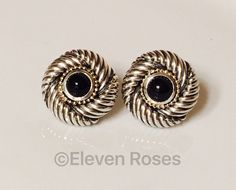 David Yurman Vintage Statement Earrings Extra Large XXL Cable