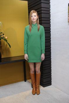 Dirk Bikkembergs #RTW Fall 2012 #kelly #green #tan #boots