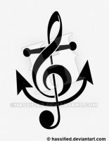 Treble Clef Anchor by hassified
