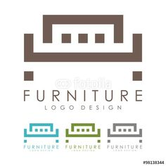 Vector: Furniture Logo - Bed Logo - Design Logo Vector