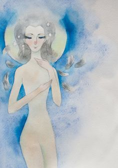 http://ino-oshi.livejournal.com/tag/акварель #dream #angel #watercolor #blue