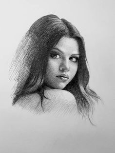 Original graphite drawing of Selena Gomez. Size 8 x 11